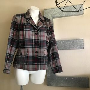 Plaid Blazer with elbow patches